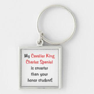 My Cavalier King Charles Spaniel is smarter.. Keychain