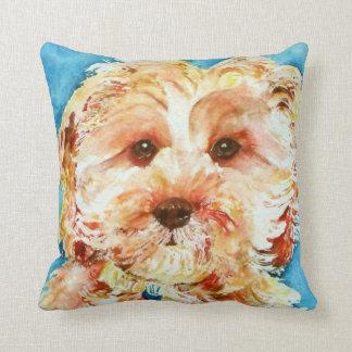 "My cavapoo puppy ""Ollie"". Throw Pillow"