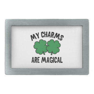 My Charms Are Magical Rectangular Belt Buckles