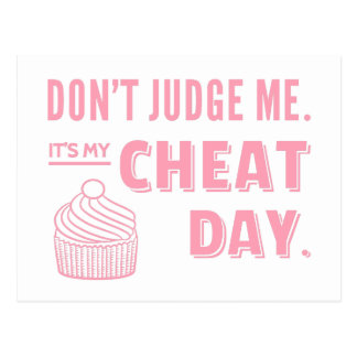 My Cheat Day Pink Cupcake Diet Humor Postcard