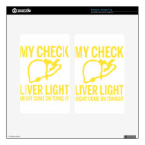 my check liver light might come on tonight cancer decal for kindle fire
