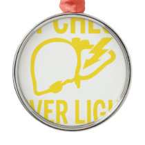 my check liver light might come on tonight cancer metal ornament