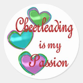 My Cheerleading Passion Round Sticker