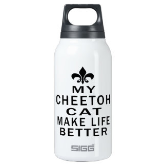 My Cheetoh Cat Make Life Better 10 Oz Insulated SIGG Thermos Water Bottle