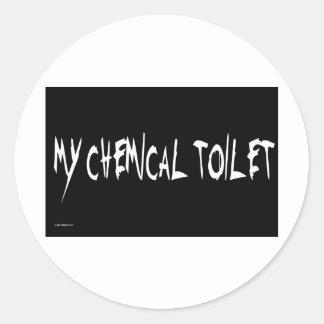 MY CHEMICAL TOILET ROUND STICKER