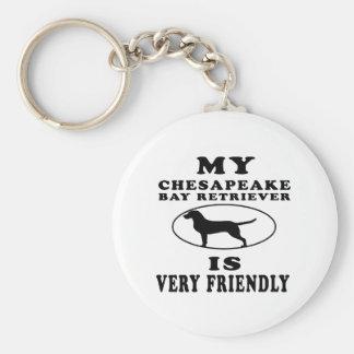 My Chesapeake Bay Retriever is very friendly Keychain