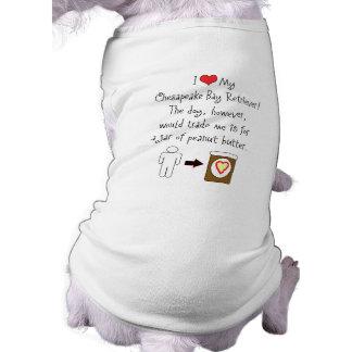 My Chesapeake Bay Retriever Loves Peanut Butter Dog T-shirt