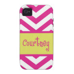MY Chevron stripe Case For The iPhone 4