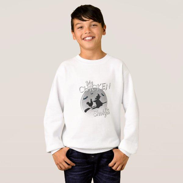 My Chicken Rides Shotgun Halloween Pet Gifts Sweatshirt