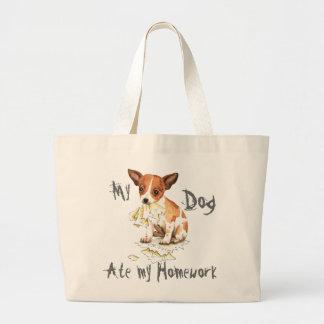 My Chihuahua Ate My Homework Canvas Bag