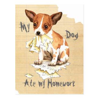 My Chihuahua Ate My Homework Postcard