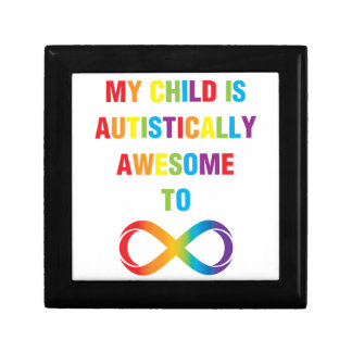 My Child Autistically Awesome Infinity Gift Box