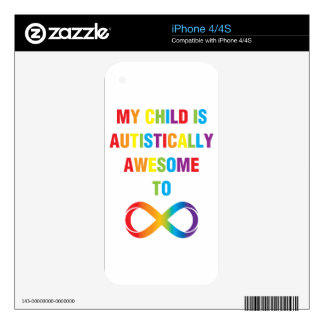 My Child Autistically Awesome Infinity iPhone 4S Decal