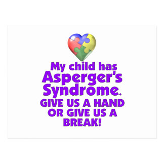 My Child Has Asperger's Postcard