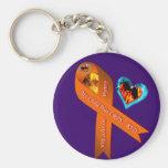 My Child Has CRPS/RSD Fire & Ice Heart Mystery Key Key Chains