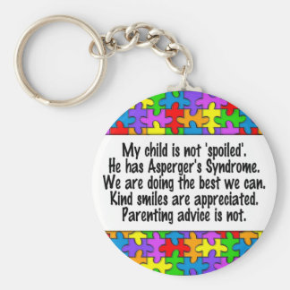 My Child Is Not Spoiled Basic Round Button Keychain