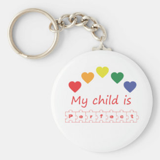 My child is perfect keychain