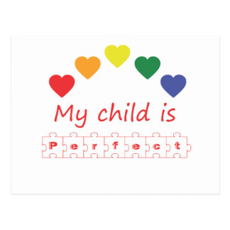 My child is perfect postcard