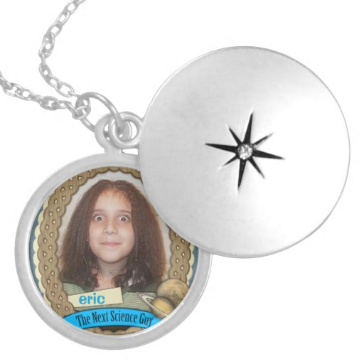 My Child is the Next Science Guy Round Locket Necklace