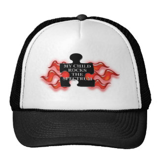 My Child Rocks Puzzle shape 2 Trucker Hat