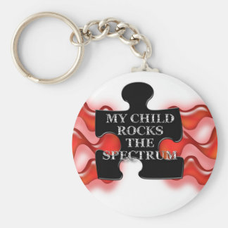 My Child Rocks Puzzle shape 2 Keychain