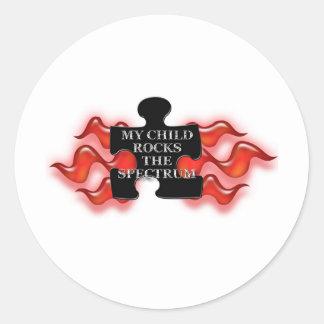 My Child Rocks Puzzle shape 2 Sticker