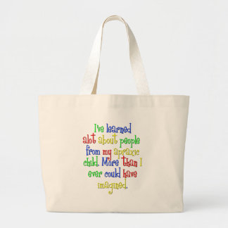 My child taught me canvas bag