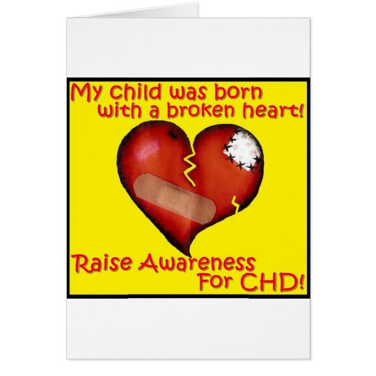 My Child Was Born With A Broken Heart Card