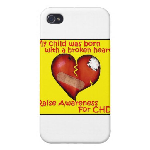 My Child Was Born With A Broken Heart iPhone 4 Case