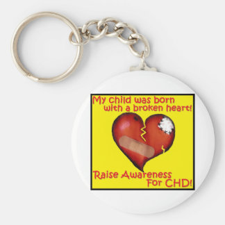 My Child Was Born With A Broken Heart Keychain