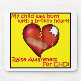 My Child Was Born With A Broken Heart Mouse Pad