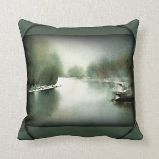 My Childhood River Throw Pillow
