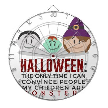 Halloween Themed My Children Are Monsters Halloween Design Dartboard With Darts