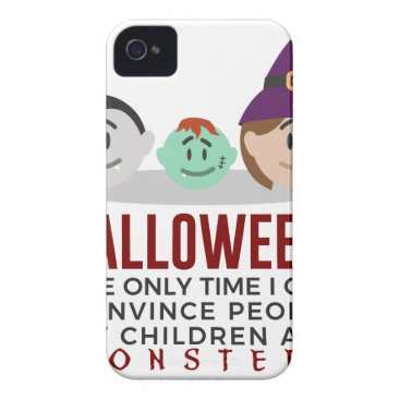 Halloween Themed My Children Are Monsters Halloween Design iPhone 4 Cover