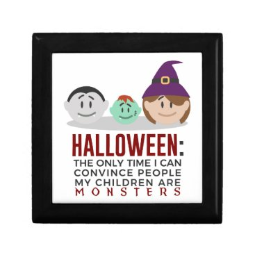 Halloween Themed My Children Are Monsters Halloween Design Jewelry Box