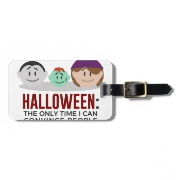 Halloween Themed My Children Are Monsters Halloween Design Luggage Tag