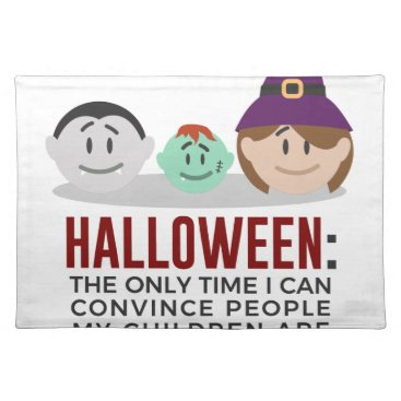 Halloween Themed My Children Are Monsters Halloween Design Placemat