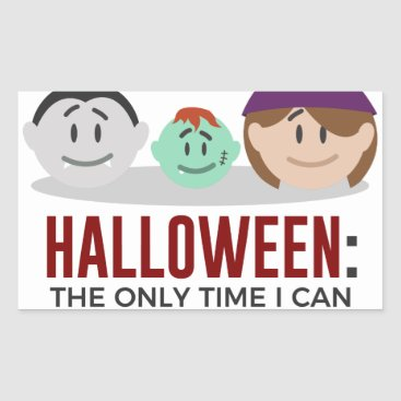 Halloween Themed My Children Are Monsters Halloween Design Rectangular Sticker