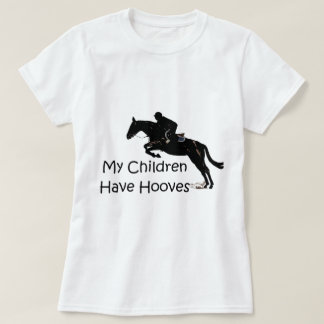 My Children Have Hooves Horse Baby Doll Shirt