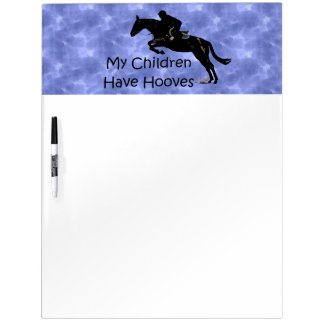 My Children Have Hooves Horse Dry Erase Board