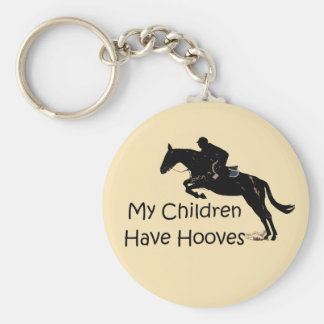 My Children Have Hooves Horse Keychain