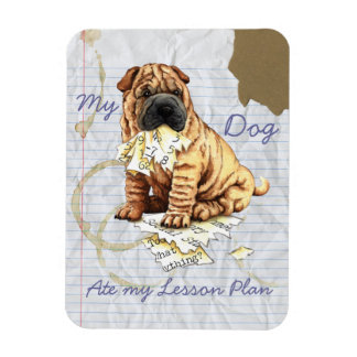 My Chinese Shar-Pei Ate My Lesson Plan Magnet