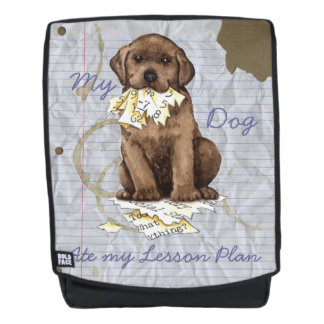 My Chocolate Lab Ate my Lesson Plan Backpack