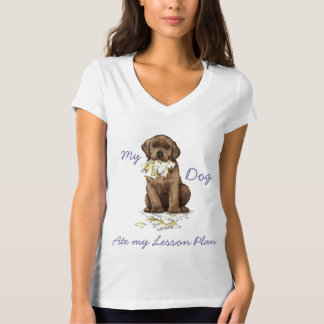 My Chocolate Lab Ate My Lesson Plan T-shirt