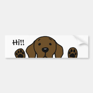"My Chocolate Lab ""Hi!!"" Bumper Sticker"