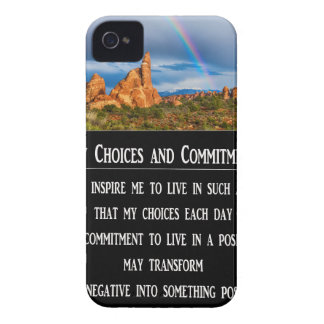 My Choices and Commitment Prayer iPhone 4 Case