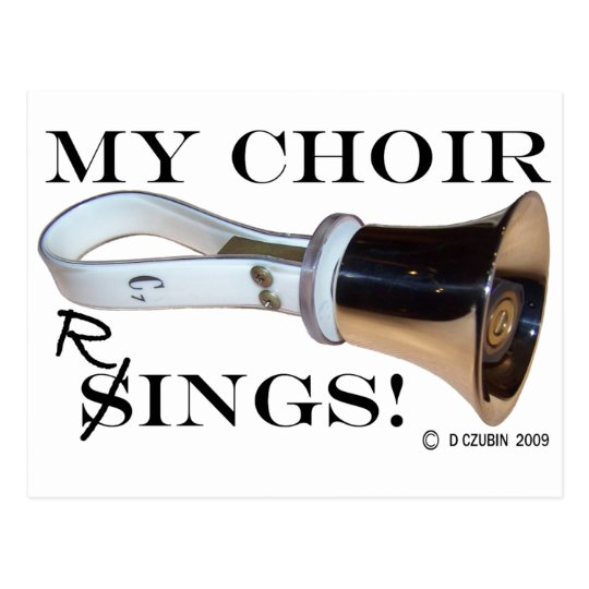 My Choir Rings Postcard
