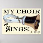 My Choir Rings Poster