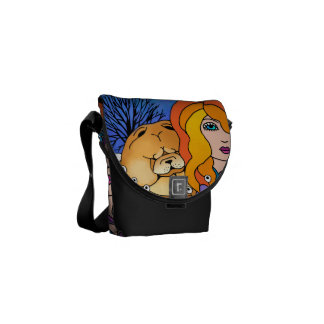 MY CHOW AND ME designer bag Courier Bag