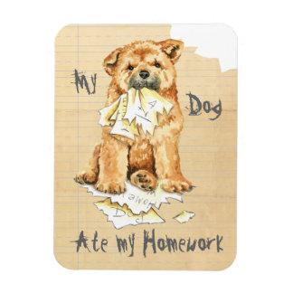 My Chow Chow Ate My Homework Rectangular Photo Magnet